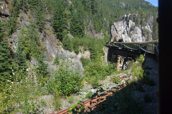 In the trains to Whistler, there where the winter Olympics were without snow.