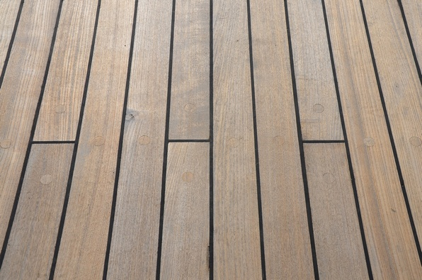 Teak, this is 20 year old teak of the ship�s deck.